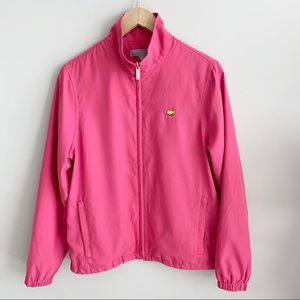 Master's Collection   Pink Long Sleeve Windbreaker